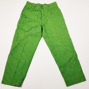 Yves St. Laurent Vintage Green Silk Pants Size 40